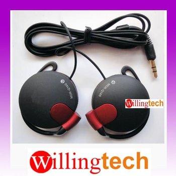 100% New Stereo Clip Hook Headphone Earphone for sony MP3 MP4 mp5