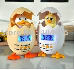 Free shipping alarm clock / alarm clock eggs in the chicken / poppy clock 10pcs(China (Mainland))