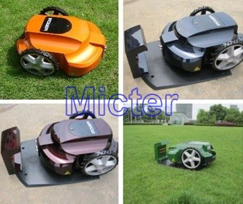 robotic mower/lawn mower/automower, auto work/recharge, grass cut height: 2.5-6.5cm, with remote control/ultrasonic radar