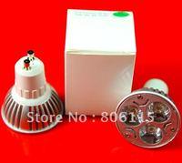 Free Shipping 3X3W 9W LED Gu10 (CREE LED, dimmable ) high power led lamp bulbs