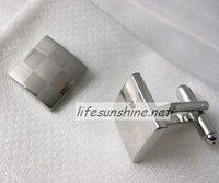 FreeShipping-Factory Offer wholesale Brand new 2010 Cuff links Lattice Cufflinks