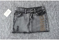 Free shipping retro shorts denim skirts women color gray SIZE S M L XL WJS021