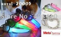 free shipping+100pcs-Wholesale - Pet collar,LED dog collar,Flashing dog collar ,led pet collar