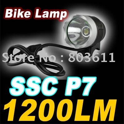 New SSC P7 LED 1200 lumens 3 modes LED Headlamp Tail Rear Bike Bicycle Light Lamp(China (Mainland))