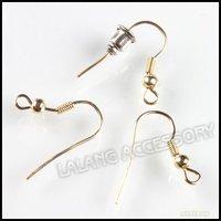 1200x Fashion Iron Golden Tone Earring Hook Earring Findings Fit Jewelry Accessory 18*17mm 160340