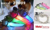 free shipping+50pcs-Wholesale - Pet collar,LED dog collar,Flashing dog collar ,led pet collar