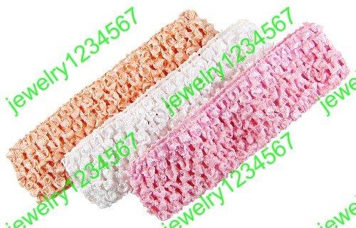 60pcs Crochet baby hair 1.5inch girl hair band Crochet Headbands hair bow clip girl's hair barrettes free shipping(China (Mainland))