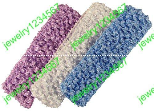 free shipping 120pcs Crochet 1.5inch girl hair band Crochet Headbands hair bow clip ribbon girl's hair barrettes Hair ribbon(China (Mainland))