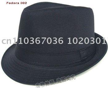 Fedora hat 100% Cotton Fedora caps black caps popular cap Mix&Match