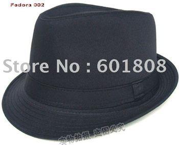 black Fedora hat 100% Cotton Classical fashion Fedora caps fashion caps popular caps Mix&Match