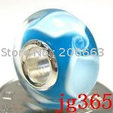 10pcs JP365 Murano Glass Bead with 925 sterling sivler core