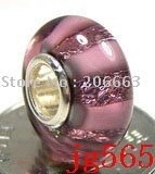 10pcs JP565  Murano Glass Bead with 925 sterling sivler core