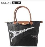 free shipping~2012 new fashion canvas  handbag shoulder bag four color Eiffel Tower nylon size M