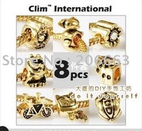 NO.K035 8pcs silver/gold plated chamrs