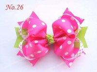 free shipping 32pcs 5.5'' big ring hair bows girl hair accessories popular popular hair clips newest big bows
