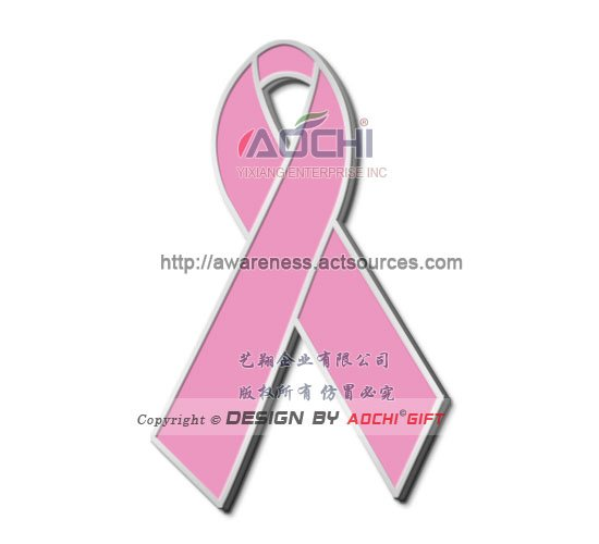 Free Shipping Newest Best Selling Hot Selling High Quality Breast Cancer Awareness Pink Ribbon Lapel Pins(China (Mainland))