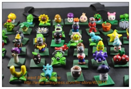 Free shipping 100% hand-made soft pottery clay plants vs zombies