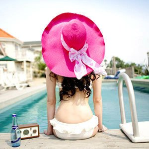 Wide Large Brim Floppy Sun Hat Wire Summer beach Hat Straw Hat Free Shipping 20 PCS/LOT(China (Mainland))