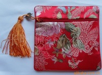 Ms long silk iron clip clasp bag Chinese Silk Pouch Purses Jewelry Coins bag