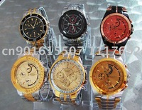 New 6pc Fashion Luxury Men's WristWatch free shipping  wholesale/Retail  A001