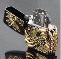 Lighter Smoking Lighter Birthday Gift Dragon Lighter Man's Fashion Accessories 5pcs/lot