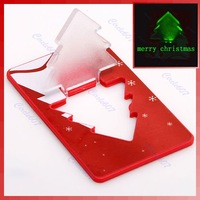 Free Shipping!30pieces/lotMini LED Christmas Tree Folding Card Night Light Lamp