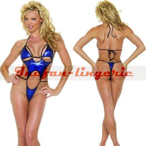 2014 erotic lingerie teddy cloths sexy stripper latex catsuit pvc vinyl dress teddy jumpsuit clubwear Pole dance dress set#3095(China (Mainland))
