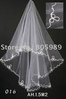 free shipping 2011New style women's Wedding veil Bridal veil White veil 1 lots(10 piece)