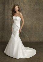 Romantic Popular Off-Shoulder Floor-Lenght Mermaid Wedding dress,Bride Dress,Custom Size and Color