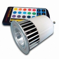 1*5W LED RGB spotlight With Remote controller,GU10 base