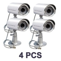 4x CCTV Security SONY CCD 420TVL IR D/N Outdoor Camera