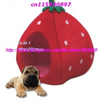 New!!Collapsible Lint  Strawberry House for Pet Dog or Cat, Pet Nest,Luxury pet house