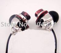 Free fedex shipping 5pcs 3.5mm Professional Gentleman Metal Skull Earphone Headphone Best Gift
