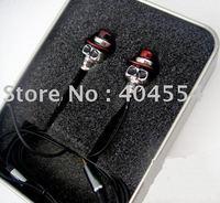 20pcs Best Gift Professional Gentleman Metal Skull In-ear Earphone Headphone Free fedex shipping