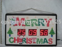 LED countdown clock for christmas