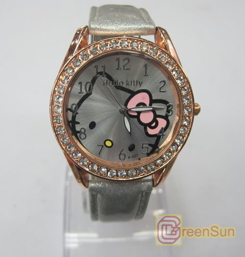 10pcs/lot U Pick Color Women Hello Kitty Children Quartz Wrist Watch for Girls ladies GU-084 free shipping HK Post(China (Mainland))
