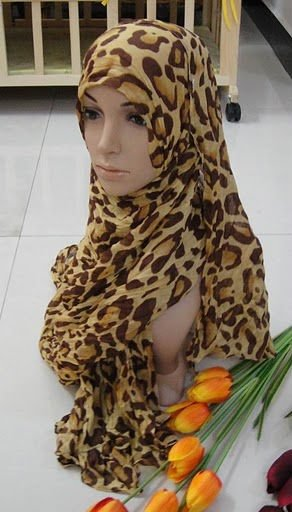Free shipping,LH 050510a gold,printed bali tulle, long Muslim scarf in leopard grain pattern,Hot Sale Products, accept(China (Mainland))