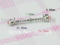 Good Selling 10PCS/Lot Free Shipping BJ0093!Stainless Steel Rhinestone Piercing Vibrating Tongue Ring