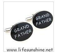FreeShipping--Grand Father Cufflinks,Cufflinks,Cufflinks for Men,Customized Cufflinks,Designer Cufflinks,Novelty Cufflinks,