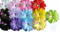 EMS FREE SHIPPING Buy 100pcs get 20 for free gril's hair flowers13colors Tropical lily Flower hair clips ,hair accessories