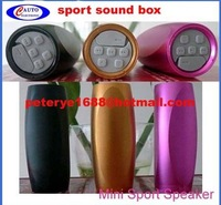 2pcs/lot New Multi Function Mini Sport Sound Box MP3 Player with 4G memory card, portable sound speaker free dropping shipping