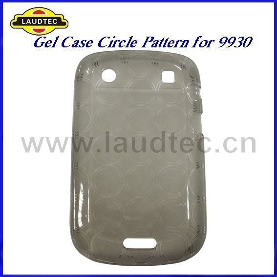 100pcs High Quality Soft Skin TPU Gel Case Circle for Blackberry Bold 9930 + DHL Free Shipping(China (Mainland))