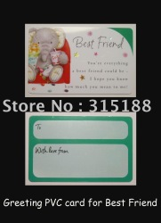 CR80,30mil. Greeting PVC Card for Best friends.With mirror Silver Hot Stamping(China (Mainland))