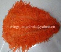 "wholesale 100pcs/lot 14-16"" Orange Ostrich Feather Plume FREE SHIPPING"