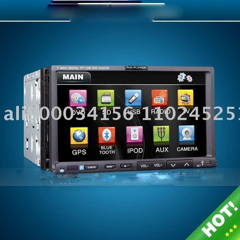 HOT 2 DIN CAR DVD WHIH GPS(China (Mainland))
