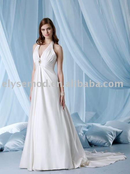 2011 Designer White V-neck Wedding Bridal Dress under 200(China (Mainland))