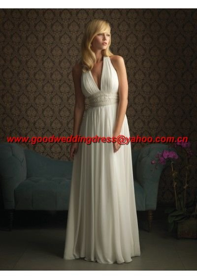 Free shipping custom made Hot sale A-line floor-length bridal gown(China (Mainland))
