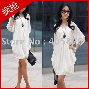 Hot sell Wholesale Chiffon dress/ Beautiful dress/Women&#39;s Clothes sw1391 Free shipping(China (Mainland))
