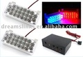 NEW Car Flashing 2*22 44 Emergency LED Strobe Light Amber / White / Red / Blue + FREE SHIPPING