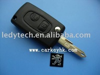 New style Peugeot 206 2 button flip modified remote key shell